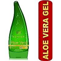 Newish Pure Aloe Vera Gel for Face Glow, Hair Growth & Skin Moisturizer for Women & Men