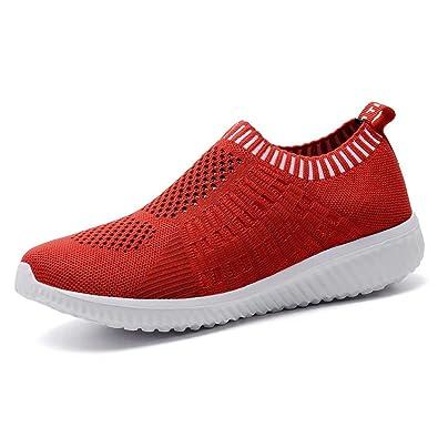 Amazon Com Konhill Women S Lightweight Walking Shoe Casual Mesh