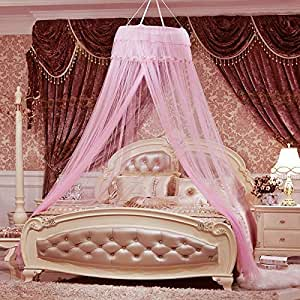 Round Lace Curtain Dome Bed Canopy Netting Princess Mosquito Net