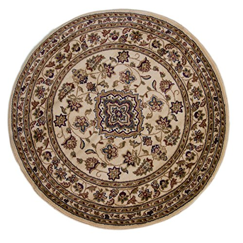 flair rugs sincerity sherborne traditional round rug beige 133 cm