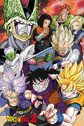 Dragonball Z - TV Show Poster / Print Cell Saga - Characters Black Hanger