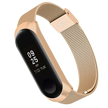 Simpeak Correa Compatible Xiaomi Mi Band 3 (5.5-8.1 Pulgadas), Pulseras de Acero Inoxidable Wristband Repuesto Bandas Xiaomi Mi Band 3 Fitness con ...
