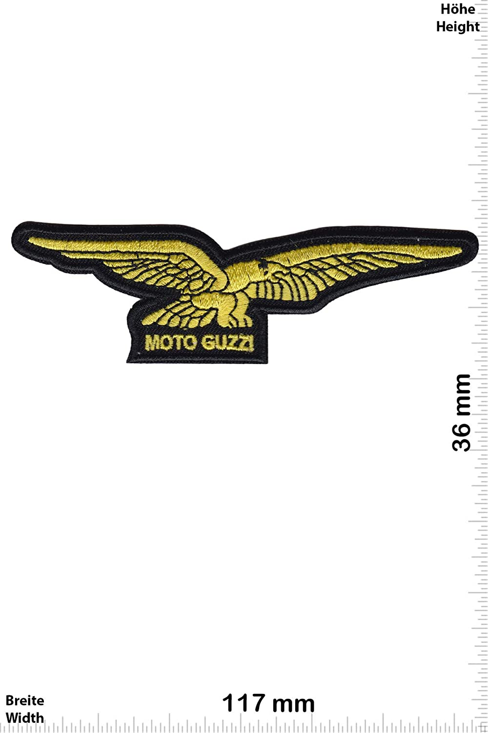 Patch - Moto Guzzi - Gold -Sport Automobile - Sport -Moto -Moto Guzzi -Moto Guzzi - Iron on Applique Embroidery Écusson brodé Costume Cadeau- Give