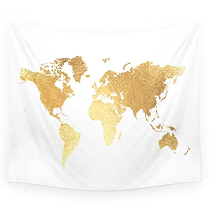 Amazon society6 textured gold map wall tapestry small 51 x 60 society6 textured gold map wall tapestry small 51quot gumiabroncs Image collections