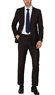 MDRN Uomo Mens Slim Fit 2 Piece Suit at Amazon Mens ...