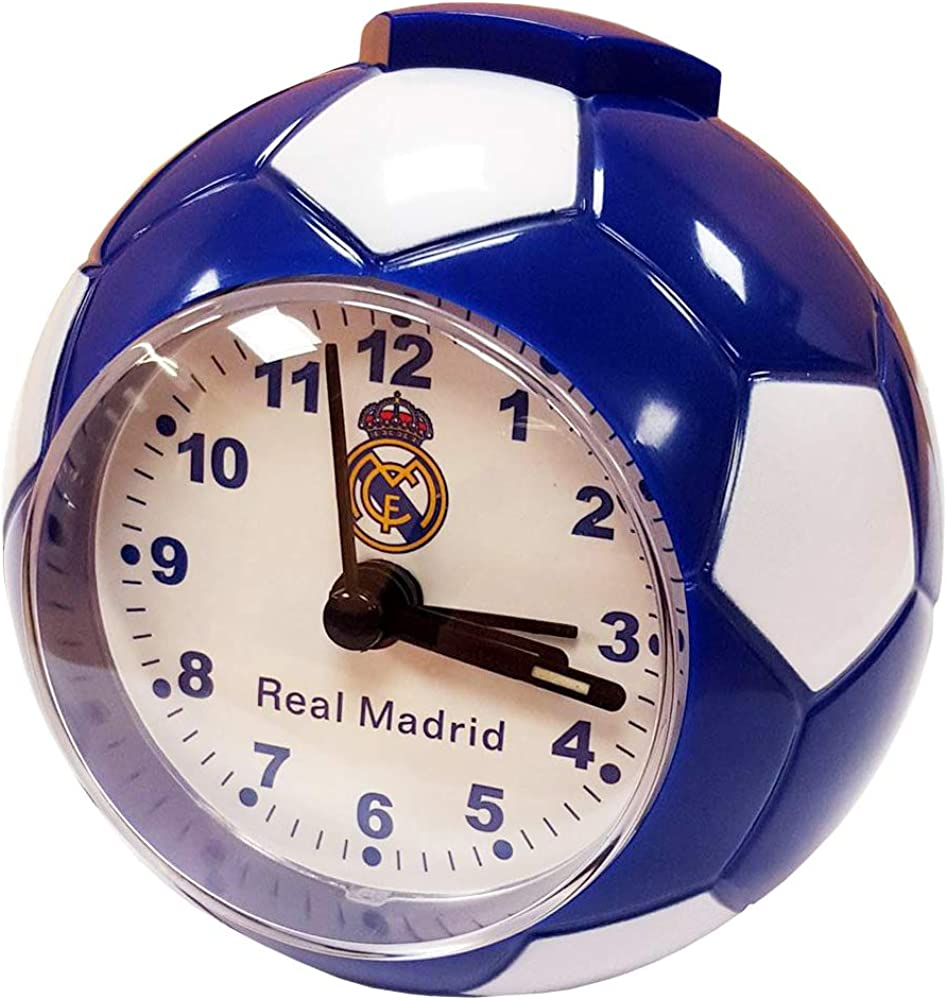 Seva Import Real Madrid 706017 Despertador Balón, Unisex, Azul/Blanco, Talla Única: Amazon.es: Deportes y aire libre
