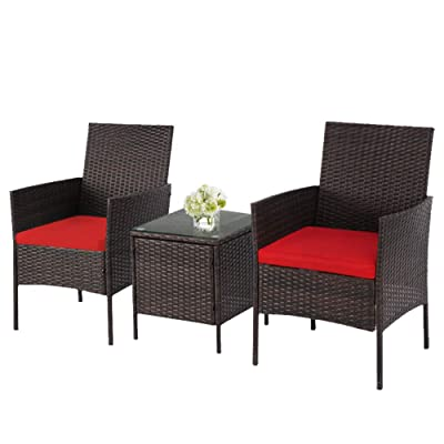 https www ubuy co id en product 49te2zy solaura 3 piece outdoor bistro sets patio furniture set brown wicker conversation chairs with glass