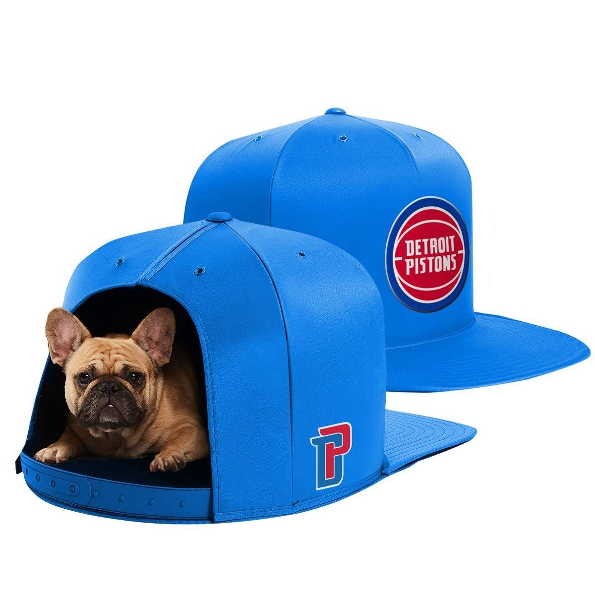NAP CAP NBA Detroit Pistons Team Indoor Pet Bed, Blue (Medium)