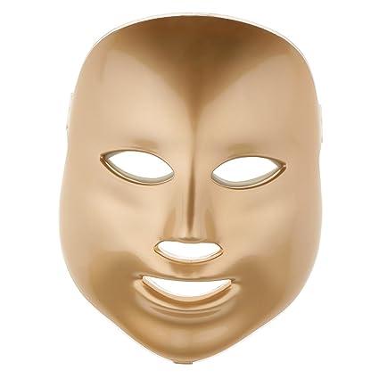 Sharplace 3 Colores Luz Fotón LED Máscara de Cara Eléctrica Cuidado de Piel Rejuvenecimiento - UE