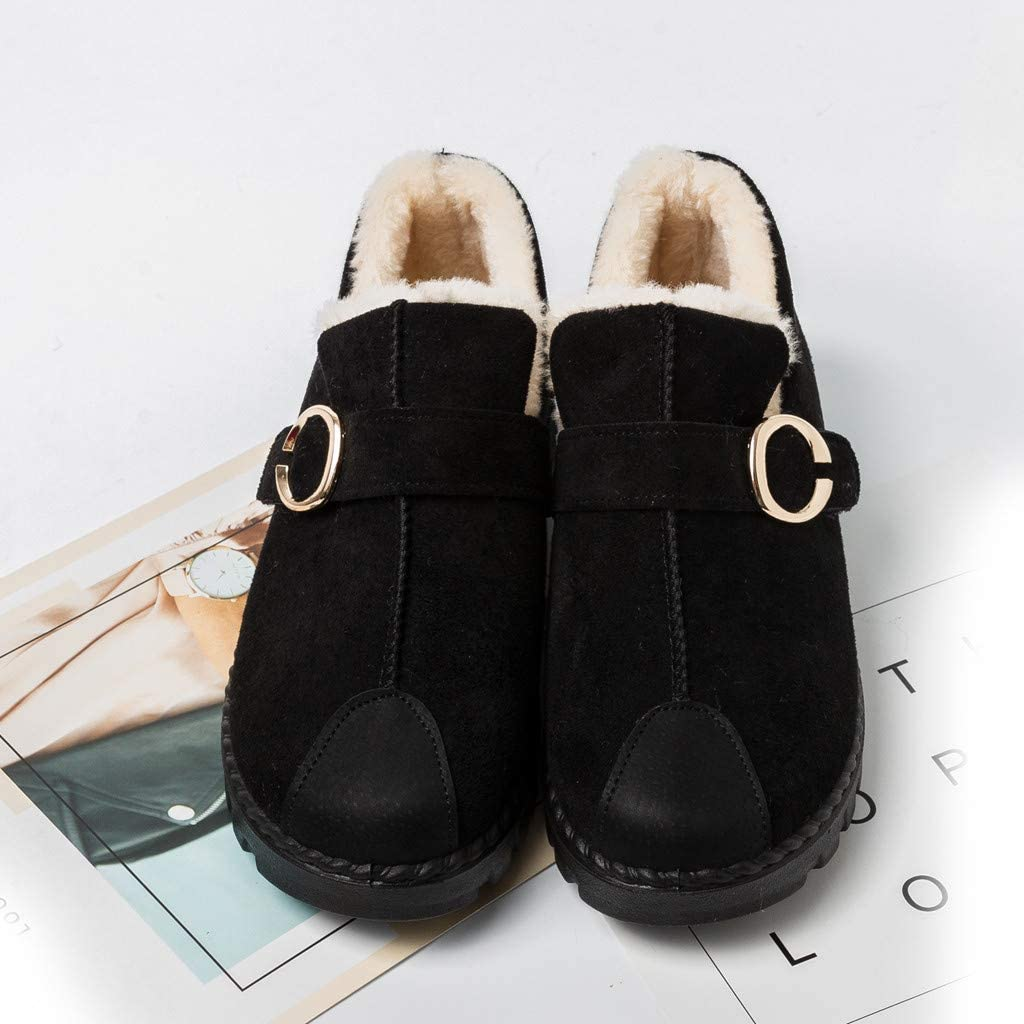 Solid Bounce Round Toe Flat Middle Tube Boots Shoes Womens Fashion Leisure Boots