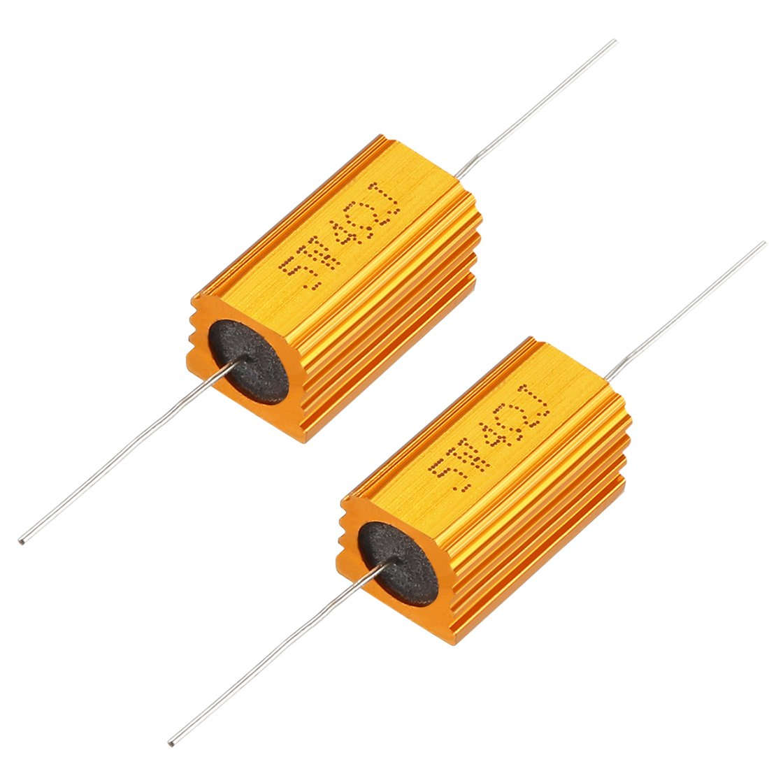 uxcell 2 Pcs Aluminum Case Resistor 5W 10 Ohm Wirewound for LED Replacement Converter 5W10RJ