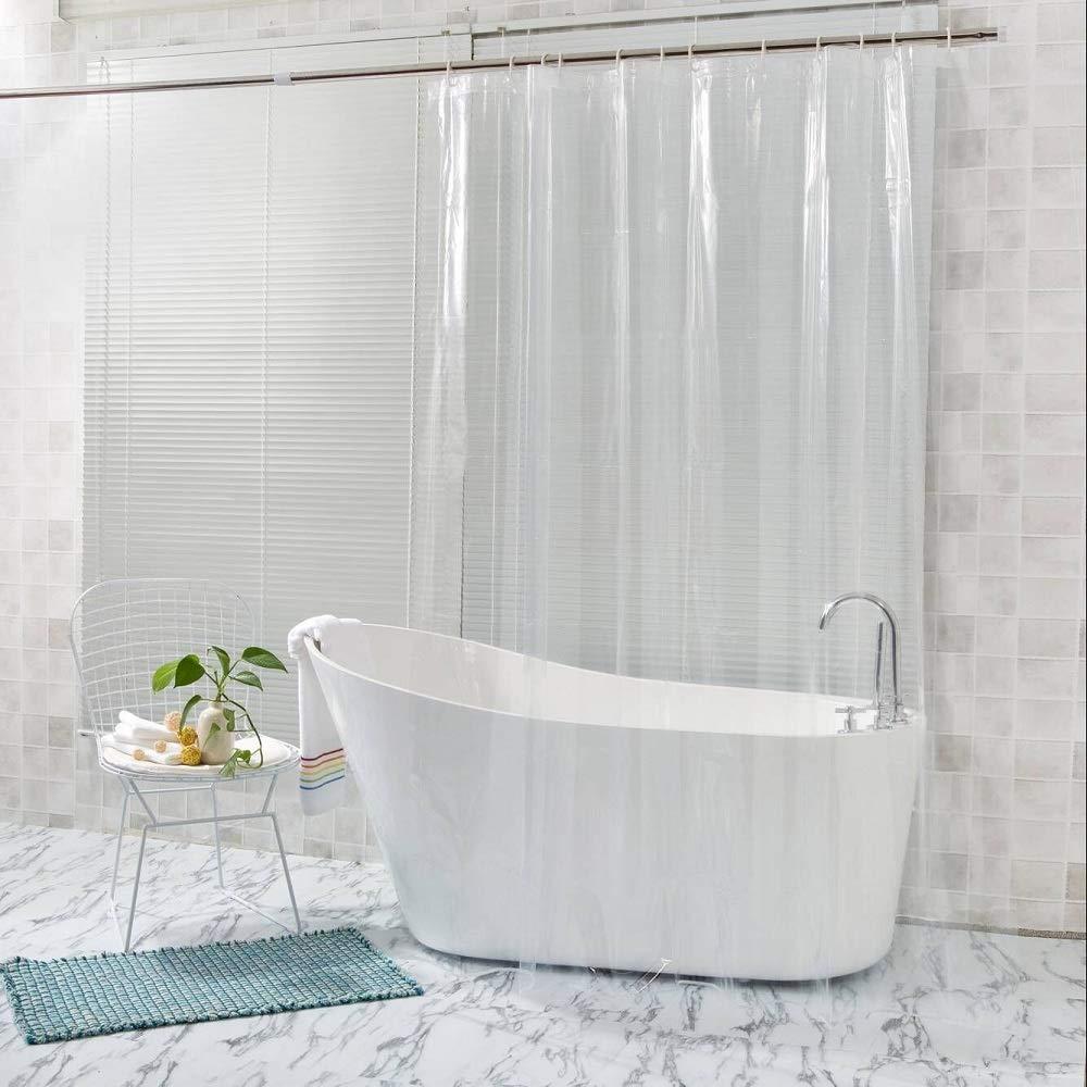 Food Grade EVA 10G Shower Curtain Liner Mildew Resistant Antibacterial Waterproof Non Toxic Eco
