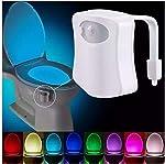 Light Up Toilet Night Light - 8-Color LED Sensor Motion-Activated Toilet