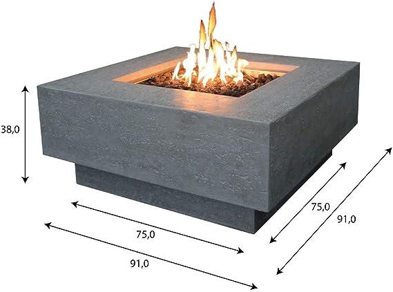 Elementi Brasero de gas Raung en aspecto de hormigón gris ...