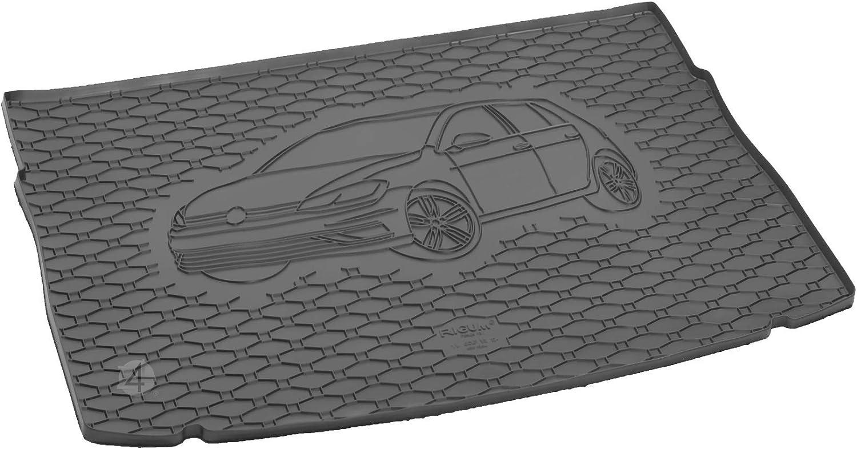 Passgenau Kofferraumwanne Geeignet Für Vw Golf 7 Ab 2012 Ideal Angepasst Schwarz Kofferraummatte Gurtschoner Auto
