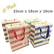 NimNik Gift Bags Medium - Luxury 12 pcs Shopping Paper Bag 9  x 7  x 4  inch Party Birthday Gift Bags (Small)