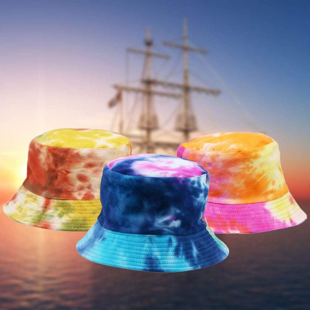Cappello a secchiello unisex leggero Clan Caratteristiche Salvaspazio colorato cappello da pescatore tie-dye
