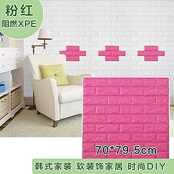 Amazon.com: Generic Self adhesive 3D bedroom wallpaper decoration ...