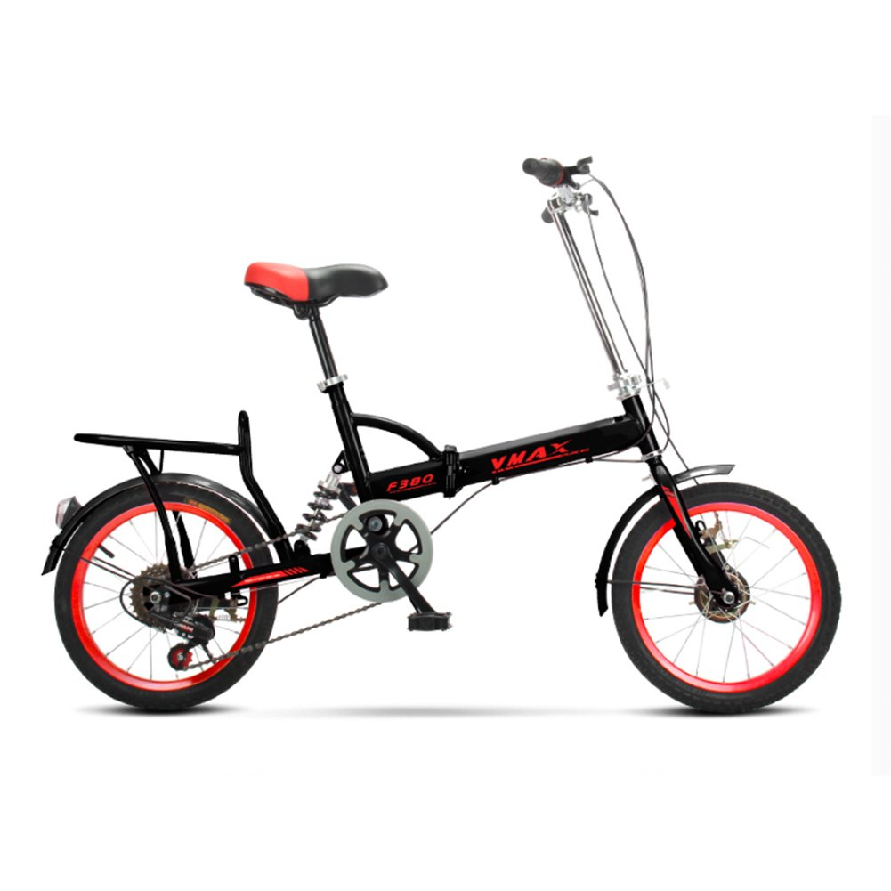大人 折りたたみ自転車, 折りたたみ自転車 男性と女性 超軽量 子供たち 学生 6 速 折り畳み自転車 B07CZZ4TGY 20inch|黒 黒 20inch
