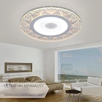 LED Modern Deckenleuchte Einfache Ultraslim Design Deckenlampe Weiß  Acryl Schirm Energie Sparen Panel Dekor Leuchten