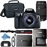 Canon EOS Rebel T6 18MP Digital SLR Camera Retail Packaging Bundle (18-55mm & 75-300mm Premium Bundle)