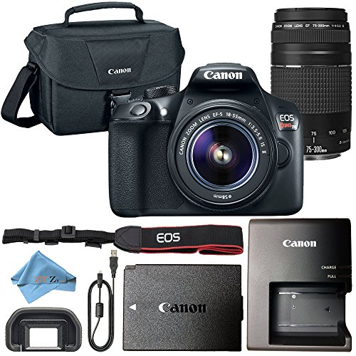 Cheap Canon EOS Rebel T6 18MP Digital SLR Camera Retail Packaging Bundle (18-55mm & 75-300mm Premium Bundle)