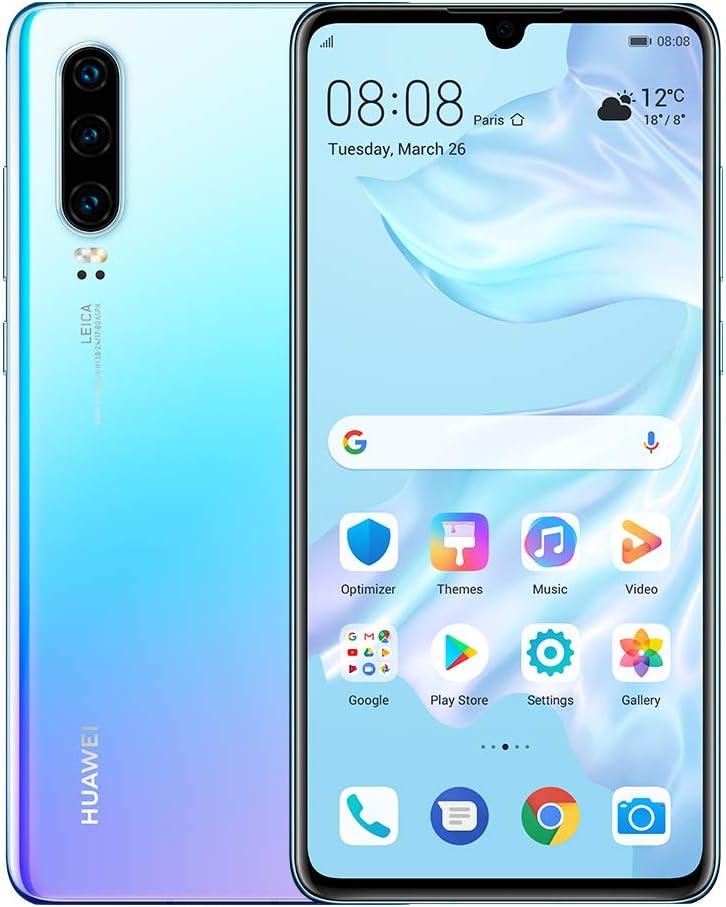 "Huawei P30 128GB+6GB RAM (ELE-L29) 6.1"" LTE Factory Unlocked GSM Smartphone (International Version) - Breathing Crystal"