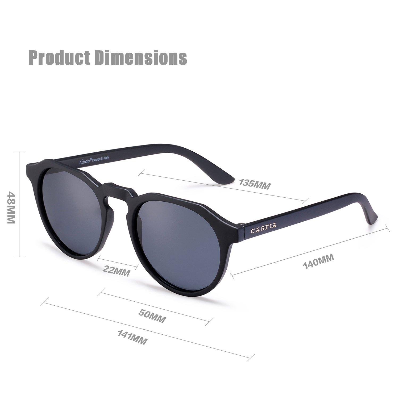 91d79fcad751 Carfia Mens Womens Polarized Sunglasses Vintage Glasses for Driving Travel  Fishing Golf - UV400 100% Protection - Unisex Style  Amazon.co.uk  Clothing