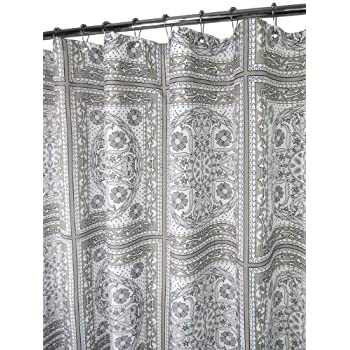 Park B. Smith Medallion Tiles Shower Curtain, Silver