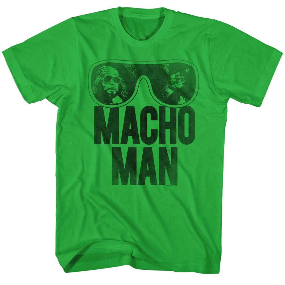 American Classics Macho Man Men's Ooold School T-Shirt Green 2XL by American Classics