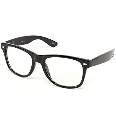 kids childrens nerd retro oversize black frame clear lens eye glasses age 3 10