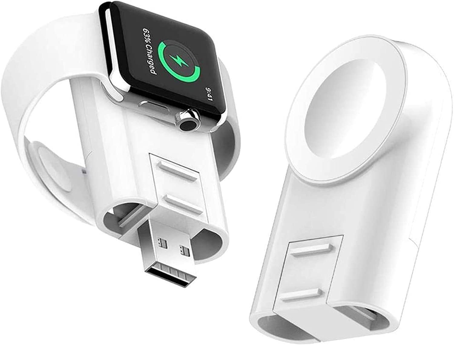 Charger for Apple Watch, DAJAHA Portable Magnetic Adjustable Wireless iWatch Charger Compatible for Apple Watch Charger Series 4 3 2 1 44mm 40mm 42mm 38mm(Upgraded Version)