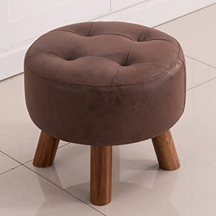 Amazon.com: Duzhengzhou Modern Small Faux Leather Ottoman/Footrest