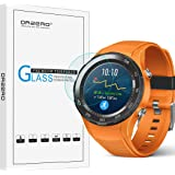 [3 Pack] Orzero for Huawei Watch 2 2018 / Watch 2 / Watch 2 Sport / Watch 2 Classic(Not fit for 1st Version) Tempered Glass Screen Protector, 2.5D Arc Edges 9 Hardness[Lifetime Replacement Warranty]