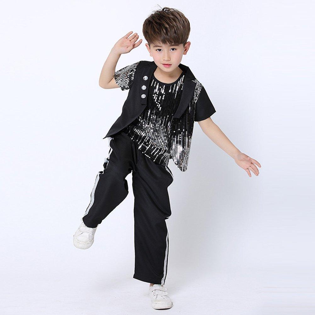7247ea0b7c227 Amazon.com: Dreamowl Children Jazz Dance Costumes Hip Hop Party Ballroom  Street Dancewear Outfits: Clothing