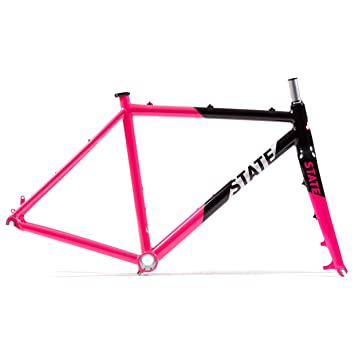 state bicycle offroad division single speed cyclocross bike frame and fork set thunderbird 49cm
