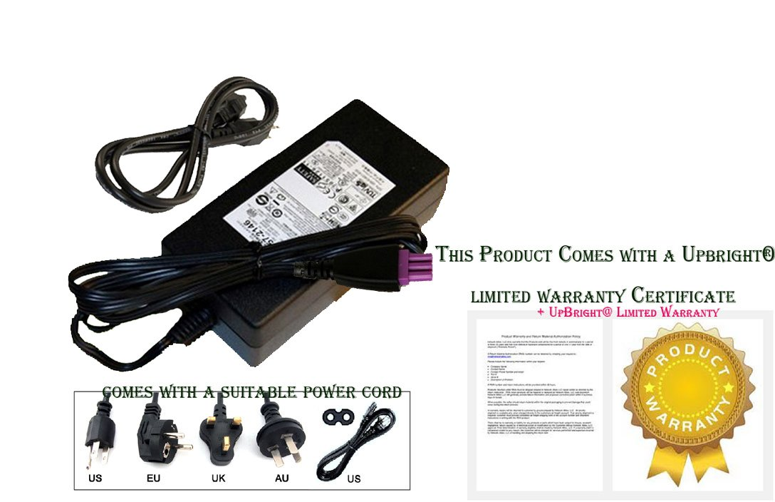 UpBright New AC Adapter For HP Photosmart eStation C510 C510A Printer CQ140A Power Supply Cord Charger PSU