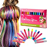 Hair Chalk, Hair Chalk Pens,12 Color Temporary Hair Chalk,Non-Toxic Washable Hair Color Safe For Kids and Teen,Use for...