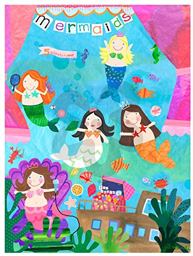 Oopsy Daisy Mermaid Performance Stretched Canvas Art, 30'' x 40''