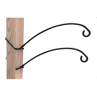 Column Hooks Self Locking No Screw Indoor Outdoor 18-inch Heavy Duty Black Column Post Hanger Bracket Hook for Hanging Flower Baskets, Wind Chimes, Lanterns, Bird Feeders, More! (3-4 inch Post 2 Pack) : Garden & Outdoor