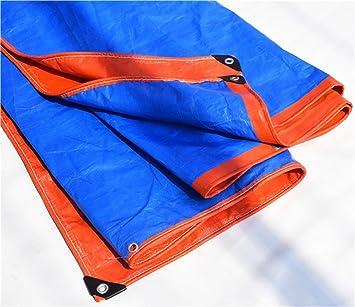 AJZGF Exterior Toldo a Prueba de Agua Poncho de Tres Ruedas camioneta protección Solar sombrilla Plegable Anti-oxidación, Naranja + Azul: Amazon.es: ...