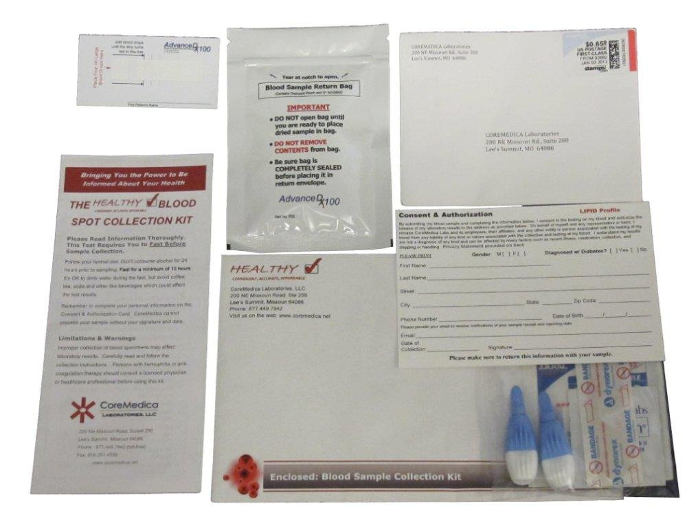 Best Home Cholesterol Test FDA Certified Complete Lipid Panel LDL, HDL and Triglycerides Test Kit by Solana Health Inc.
