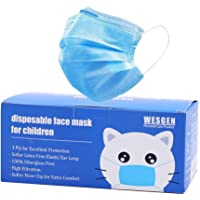50Pcs Kids Disposable 3 Ply Breathable & Comfortable Anti Dust Face Mouth Filter Tools for Children,Vacuum Packing
