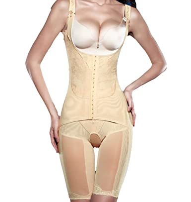 3195a69acc Marrellous XXXL Nude Tininna Women Full Body Shaper Bodyshaper Waist  Cincher Thigh Reducer Slimming Bodysuit Shapewear