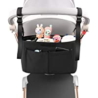 Baby Stroller Organizer with Cup Holder, Universal Non-Slip Stroller Accessories Caddy Bag Fits for Uppababy, Baby…