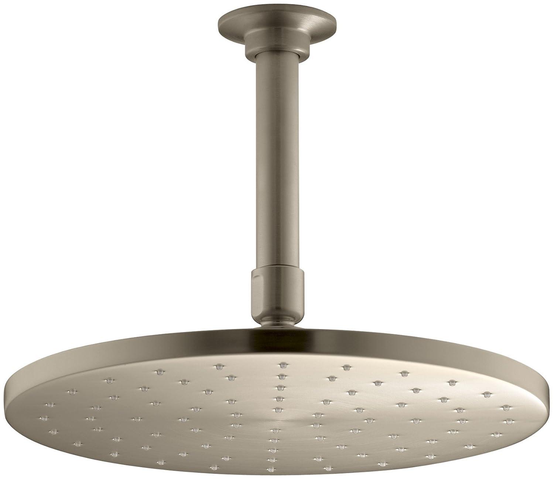 Kohler 10-inch Contemporaryラウンド雨ヘッド K-13689-BV 1 B003UJHPHE Vibrant Brushed Bronze Vibrant Brushed Bronze