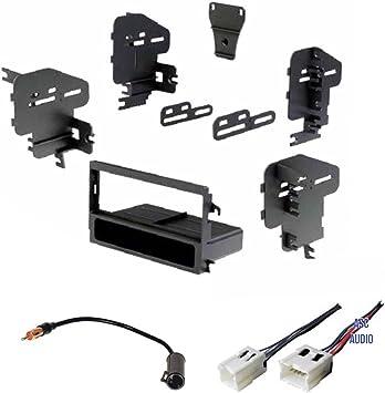 Kit de Tablero estéreo para Coche, arnés de Cable y Adaptador de Antena para Instalar una Nueva Radio DIN para Algunos Nissan 200sx, Altima, Frontier, ...