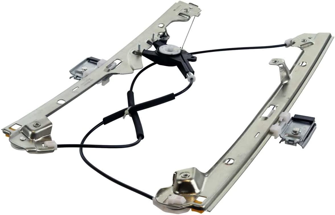 AutoShack WR840647PR Front Power Window Regulator Pair without Motors 2 Pieces Fits Driver and Passenger Side
