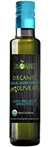 Organic Extra Virgin Olive Oil Sky Organics (16.9 oz) 100% Pure Greek Cold Pressed Unfiltered Non-GMO EVOO- For Cooking Baking - Hair & Skin Moisturizing Award Winning Best USDA Organic Olive Oil