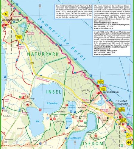 Ostseeradweg Karte.Ostseeküsten Radweg 2 Lübeck Usedom Leporello Radtourenkarte Mit
